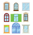 collection of cartoon colored windows on white vector image vector image