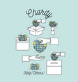 color background silhouette image set charity help vector image