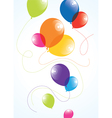 colorful balloons in the sky vector image vector image