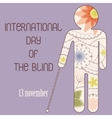 Day of the blind backdground vector image