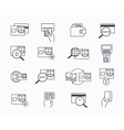 Debit and credit card payment icons Safe vector image