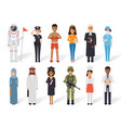 diverse occupation profession people vector image vector image