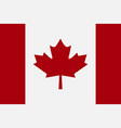 flag canada in flat style vector image vector image