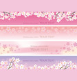 four seamless with cherry blossoms vector image vector image