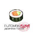 futomaki sushi vector image vector image