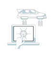 futuristic flying car vector image vector image