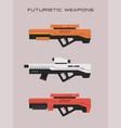 futuristic weapons - sniper rifle vector image vector image