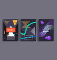 geometric covers set vector image