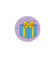gift box detailed style icon vector image vector image