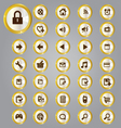 Gold and silver icons vector image vector image