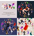 group dancing people yong happy man and woman vector image vector image