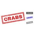 grunge crabs textured rectangle watermarks vector image vector image