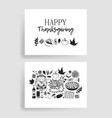 hand drawn autumn holidays creative ink art work vector image vector image