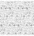 Hand drawn Love seamless pattern vector image vector image