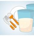 healthy food design infographic icon menu vector image vector image