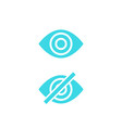 hide show icons with eye vector image vector image