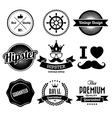 hipster style badge and labels