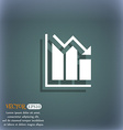 histogram icon On the blue-green abstract vector image