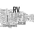 how to find rv rentals vector image vector image
