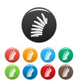 jump coil icons set color vector image vector image