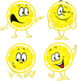 lemon cartoon - funny isolated on white background vector image vector image