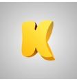 Letter K comic style font EPS10 vector image vector image