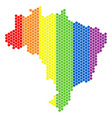 lgbt spectrum dotted brazil map vector image