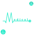 M letter medicine logo template vector image vector image