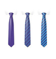 man colored tie set tie mockup with different vector image