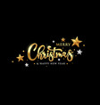 merry christmas message gold banner vector image vector image
