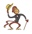 monkey with hat vector image