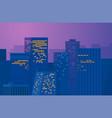 night city downtown metropolis cityscape vector image