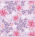 purple and pink underwater seaweed pattern vector image vector image