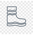 rain boots concept linear icon isolated on vector image