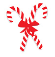 Red christmas candy canes vector image