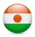 Round glossy icon of niger