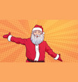 santa claus on colorful pop art comic background vector image