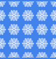 seamless white christmas snowflakes vector image vector image