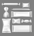 set isolated wrapper for confectionary products vector image vector image