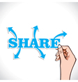 share any thing in world stock vector image vector image