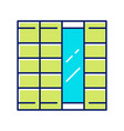 shoji panels color icon traditional japanese door vector image