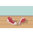 sneakers lie in the room vector image vector image