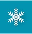 snowflake cut out icon isolated on blue wintertime vector image