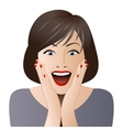 Surprised woman face for sale vector image