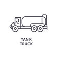 tank truck line icon sign on vector image