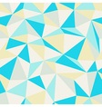 triangle pattern blue and yellow vector image vector image
