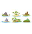 tropical island at sea ocean set exotic vector image