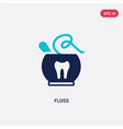 two color floss icon from gastronomy concept vector image vector image