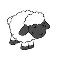 two colored sheep icon from farming 2 color vector image vector image
