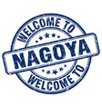 welcome to nagoya blue round vintage stamp vector image vector image